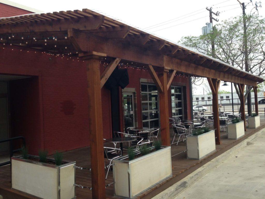 pergola over restaurant patio