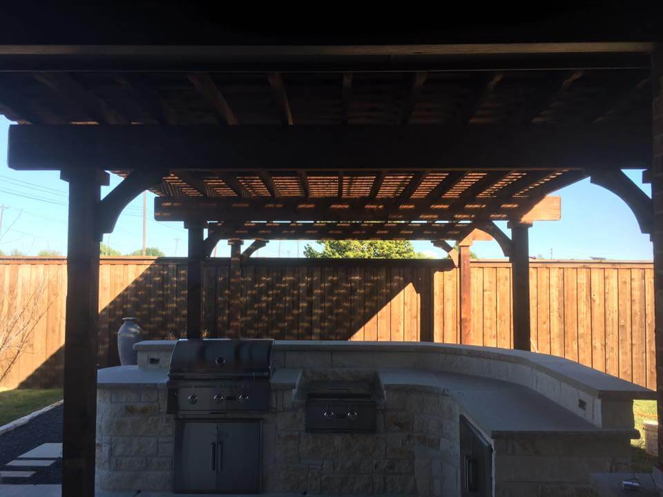 patio cover over outdoor kitchen