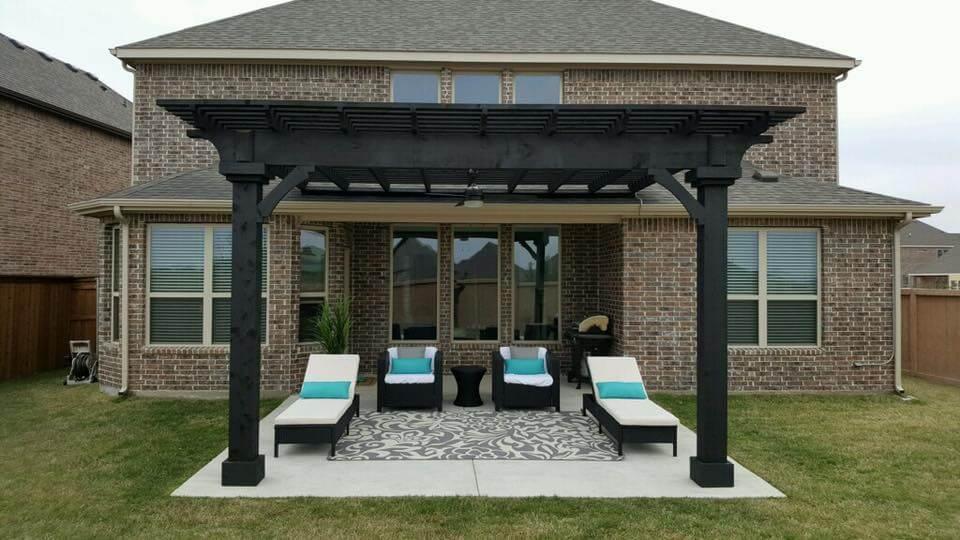 lawn furniture under pergola