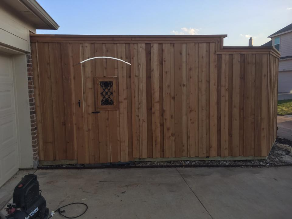 unfinished custom fence