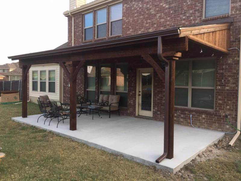 Wooden Patio Covers Nortex Fence