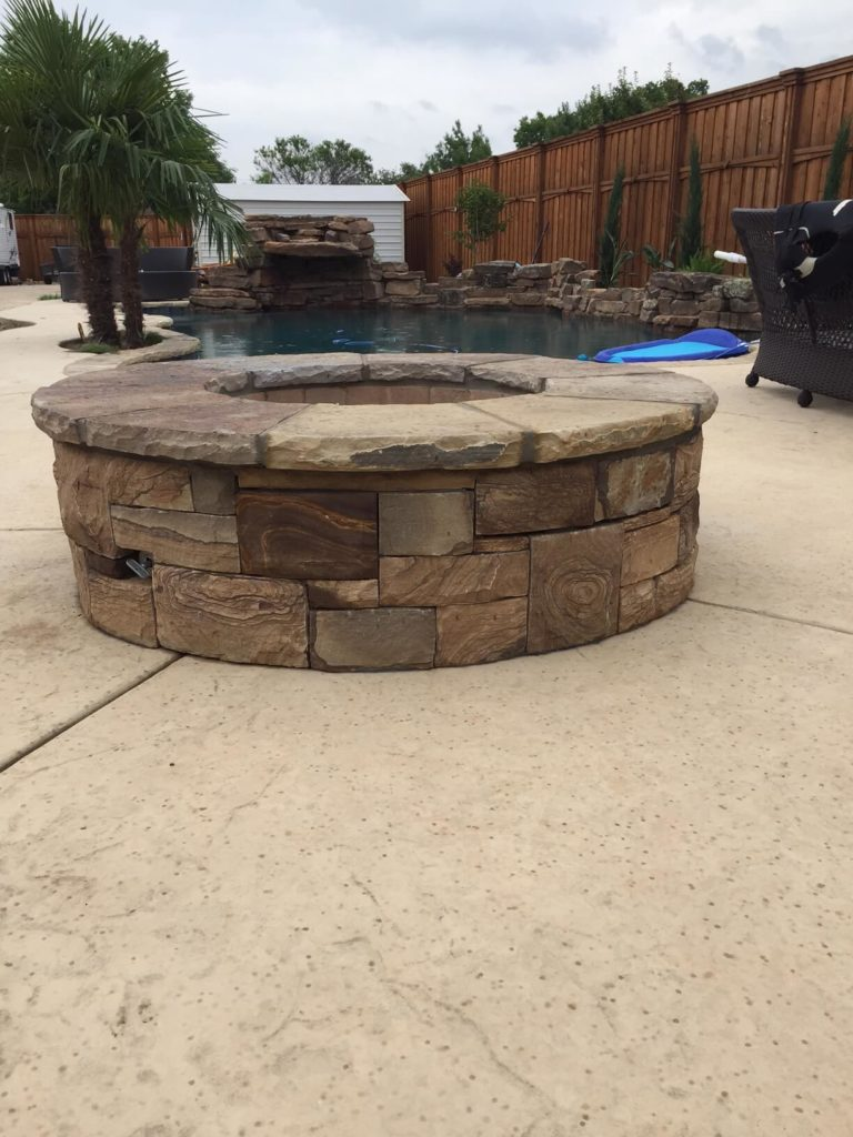 firepit and patio