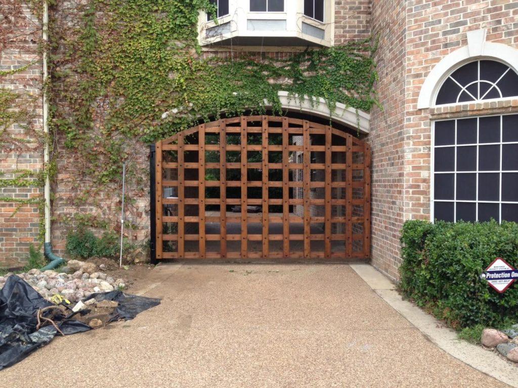 lowering driveway gate