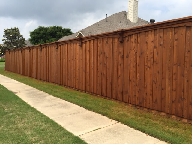 custom wood fence and stain